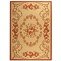 Indoor/ Outdoor Garden Natural/ Terracotta Rug (9' x 12')
