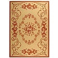 Safavieh Indoor/ Outdoor Garden Natural/ Terracotta Rug (9' x 12')