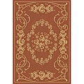 Indoor/ Outdoor Garden Terracotta/ Natural Rug (9' x 12')