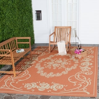 Safavieh Indoor/ Outdoor Garden Terracotta/ Natural Rug (9' x 12')