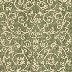Indoor/ Outdoor Resorts Olive/ Natural Runner (2'4 x 6'7)