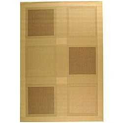 Indoor/ Outdoor Lakeview Natural/ Brown Rug (5'3 x 7'7)