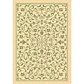 Indoor/ Outdoor Resorts Natural/ Olive Rug (2'7 x 5')