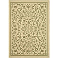 Indoor/ Outdoor Resorts Natural/ Olive Rug (4' x 5'7)