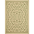 Indoor/ Outdoor Resorts Natural/ Olive Rug (9' x 12')