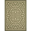 Indoor/ Outdoor Resorts Olive/ Natural Rug (4' x 5'7)