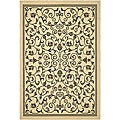 Indoor/ Outdoor Resorts Natural/ Brown Rug (6'7 x 9'6)