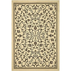 Indoor/ Outdoor Resorts Natural/ Brown Rug (9' x 12')