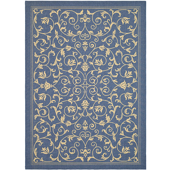Safavieh Indoor Outdoor Resorts Blue Natural Rug 2 7 x