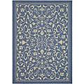 Safavieh Indoor/ Outdoor Resorts Blue/ Natural Rug (2'7 x 5')