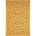 Indoor/ Outdoor Resorts Natural/ Terracotta Rug (2'7 x 5')