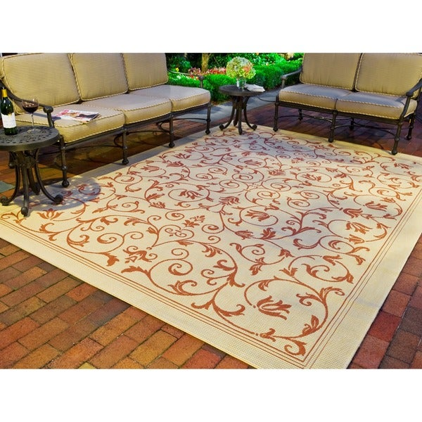 Safavieh Indoor Outdoor Resorts Natural Terracotta Rug