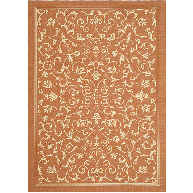 Safavieh Indoor Outdoor Resorts Terracotta Natural Rug