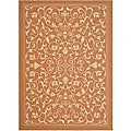 Indoor/ Outdoor Resorts Terracotta/ Natural Rug (6'7 x 9'6)