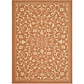 Indoor/ Outdoor Resorts Terracotta/ Natural Rug (7'10' x 11')