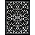 Indoor/ Outdoor Resorts Black/ Sand Rug (9' x 12')