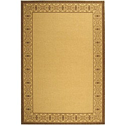 Indoor/ Outdoor Oceanview Natural/ Brown Rug (9' x 12')