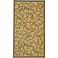 Indoor/ Outdoor Mayaguana Natural/ Brown Rug (2'7 x 5')