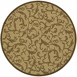 Safavieh Indoor/ Outdoor Mayaguana Natural/ Brown Rug (5'3 Round)