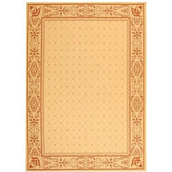 Indoor/ Outdoor Summer Natural/ Terracotta Rug (7'10 x 11')