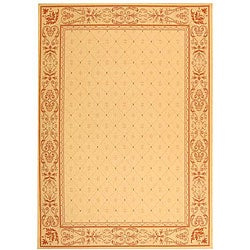 Safavieh Indoor/ Outdoor Summer Natural/ Terracotta Rug (7'10 x 11')