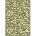 Indoor/ Outdoor Mayaguana Olive/ Natural Rug (4' x 5'7)