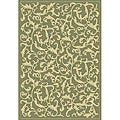 Indoor/ Outdoor Mayaguana Olive/ Natural Rug (7'10 x 11')