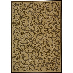 Safavieh Indoor/ Outdoor Mayaguana Natural/ Brown Rug (4' x 5'7)