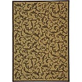 Indoor/ Outdoor Mayaguana Natural/ Brown Rug (6'7 x 9'6)