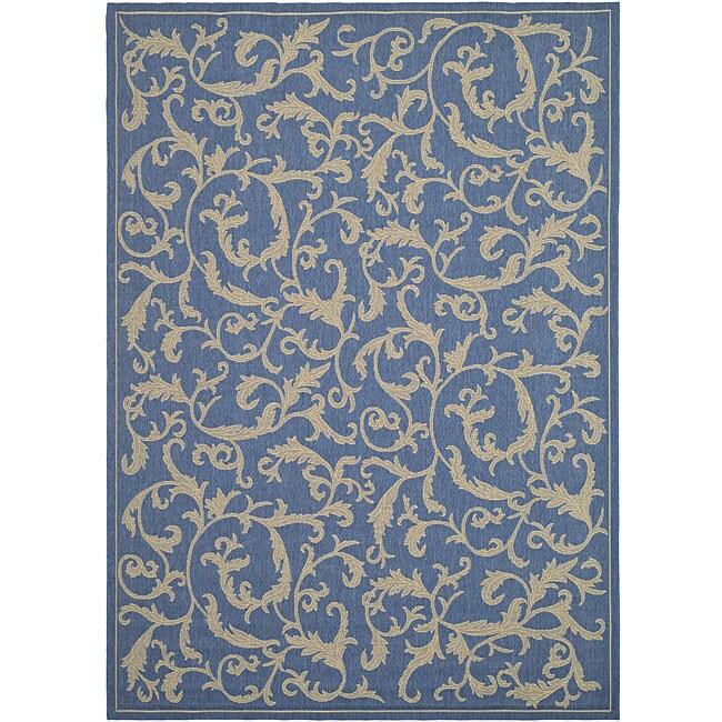 safavieh indoor outdoor mayaguana blue natural rug 2 39 7