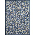 Safavieh Indoor/ Outdoor Mayaguana Blue/ Natural Rug (4' x 5'7)