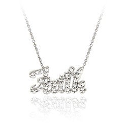 DB Designs Sterling Silver Diamond Accent 'Faith' Necklace