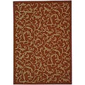 Indoor/ Outdoor Mayaguana Terracotta/ Natural Rug (9' x 12')