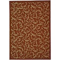 Indoor/ Outdoor Mayaguana Terracotta/ Natural Rug (7'10 x 11')