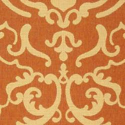 Indoor/ Outdoor Bimini Terracotta/ Natural Rug (9' x 12')