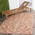 Safavieh Indoor/ Outdoor Bimini Terracotta/ Natural Rug (9' x 12')
