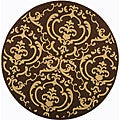 Indoor/ Outdoor Bimini Chocolate/ Natural Rug (6'7 Round)