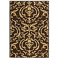 Indoor/ Outdoor Bimini Chocolate/ Natural Rug (2'7 x 5')