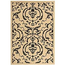 Safavieh Indoor/ Outdoor Bimini Sand/ Black Rug (5'3 x 7'7)