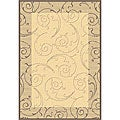 Indoor/ Outdoor Oasis Natural/ Brown Rug (9' x 12')