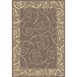 Indoor/ Outdoor Oasis Brown/ Natural Rug (9' x 12')