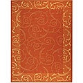 Safavieh Indoor/ Outdoor Oasis Terracotta/ Natural Rug (9' x 12')
