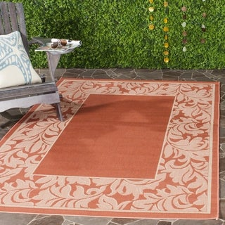 Safavieh Indoor/ Outdoor Paradise Terracotta/ Natural Rug (5'3 x 7'7)