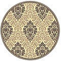Indoor/ Outdoor St. Barts Natural/ Brown Rug (5'3 Round)