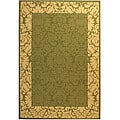 Indoor/ Outdoor Kaii Olive/ Natural Rug (6'7 x 9'6)