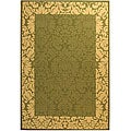 Safavieh Indoor/ Outdoor Kaii Olive/ Natural Rug (6'7 x 9'6)