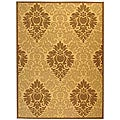 Indoor/ Outdoor St. Barts Natural/ Brown Rug (7'10 x 11')