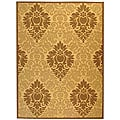 Safavieh Indoor/ Outdoor St. Barts Natural/ Brown Rug (7'10 x 11')