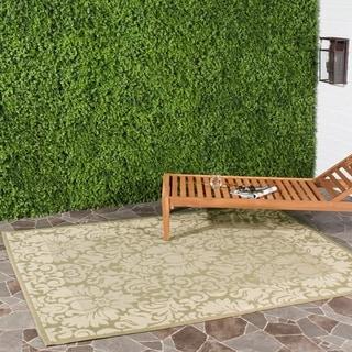 Safavieh Indoor/ Outdoor Kaii Olive/ Natural Rug (4' x 5'7)