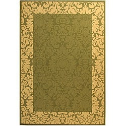 Safavieh Indoor/ Outdoor Kaii Olive/ Natural Rug (9' x 12')